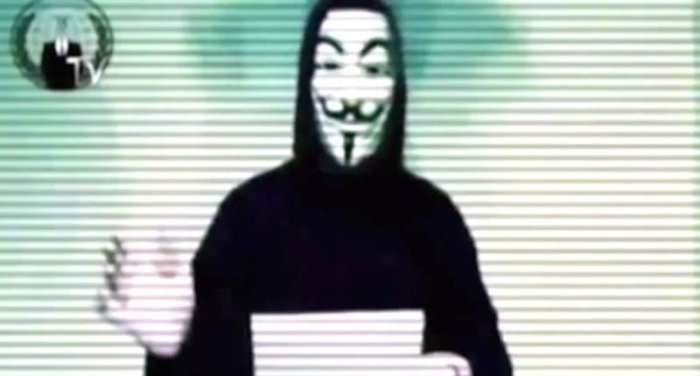 Image from an 'Anonymous' video [YouTube]