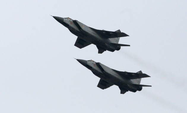 MiG-31 fighter jets are not commonly seen close to Europe but some were intercepted along with other aircraft above the Baltic Sea in two separate incidents on Tuesday and Wednesday. (Ilya Naymushin/Reuters)