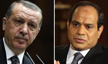 Turkey's President Tayyip Erdogan (R) and Egypt's President Abdel-Fattah El-Sisi (Photo: Reuters)