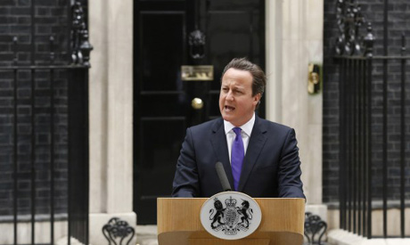 Britain's Prime Minister David Cameron speaks in front of 10 Downing Street, about the killing of a British soldier, in London May 23, 2013 (Photo: Reuters)