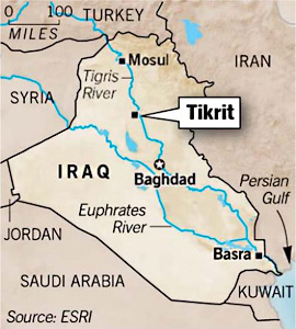 the iraqi military alongside thousands of shiite militia fighters began a large scale offensive on monday to retake the city of tikrit from the islamic