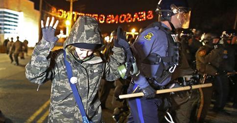 Protest in Ferguson, Missouri Credit Washington Post