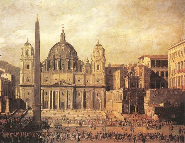 St. Peter's Basilica by Viviano Codazzi [Public domain], via Wikimedia Commons