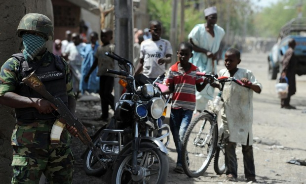 Fighting continued Friday around the town on Baga, near Nigeria's border with Chad. Photograph: Pius Utomi Ekpei/AFP/Getty Images