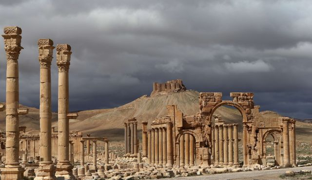 An archive photo of the ancient city of Palmyra, Syria. Photo by AFP
