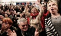 Supporters of the opposition Syriza party cheer the results in Athens, Greece. Photograph: Milos Bicanski/Getty Images Europe