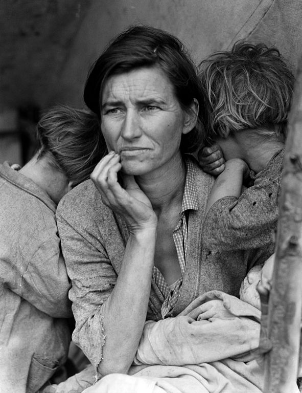 By Dorothea Lange, Farm Security Administration / Office of War Information / Office of Emergency Management / Resettlement Administration [Public domain], via Wikimedia Commons