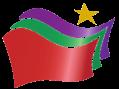 Το λογότυπο του ΣΥΡΙΖΑ Logo of Greek leftist party SYRIZA.