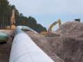 A TransCanada pipeline under construction.
