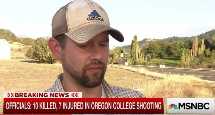 Veteran and UCC student John Parker -- (MSNBC screencapture)