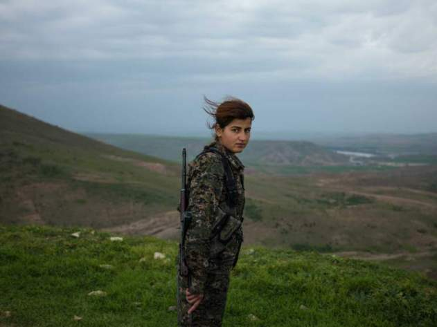 "18-year-old YPJ fighter Torin Khairegi: ""We live in a world where women are dominated by men. We are here to take control of our future."""