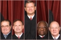 Supreme Court Justices Antonin Scalia, Samuel Alito, John Roberts, Clarence Thomas, Anthony Kennedy (Credit: AP/Pablo Martinez Monsivais)