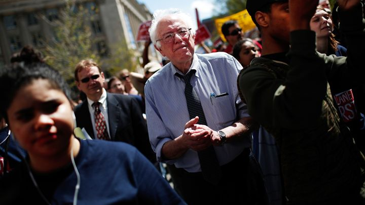 Bernie Sanders' entrance into the 2016 presidential race isn't a footnote to the inevitable coronation of Hillary Clinton as the Democratic nominee. Win McNamee/Getty