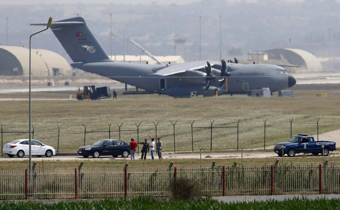 "The Incirlik Air Base in southern Turkey on Monday. Turkey and the United States agreed on a plan that would create what officials are calling an Islamic State-free zone, which the Turks say could also be a ""safe zone"" for displaced Syrians.  Credit Murad Sezer/Reuters"