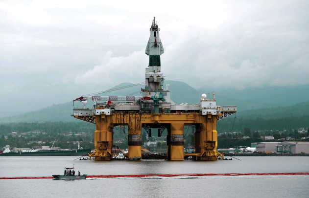 Shell's Polar Pioneer in Port Angeles, Wash., on May 12. Photographer: Jason Redmond/Reuters
