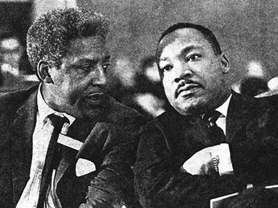 Martin Luther King and Bayard Rustin