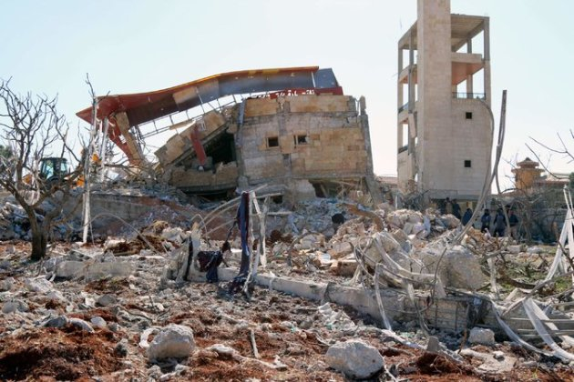 The rubble of a hospital in Maarat al-Noaman, Syria, after the site, which was supported by Doctors Without Borders, was hit by four missiles in two sets of air attacks last week.  Credit Agence France-Presse — Getty Images