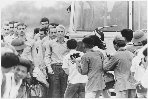John McCain After Being Released as Prisoner of War. National archives.