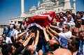 A funeral in Ankara, Turkey, on Monday for one of the victims of the recent coup attempt.  Credit Dimitar Dilkoff/Agence France-Presse — Getty Images